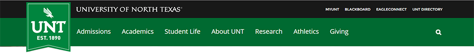 UNT Main site header