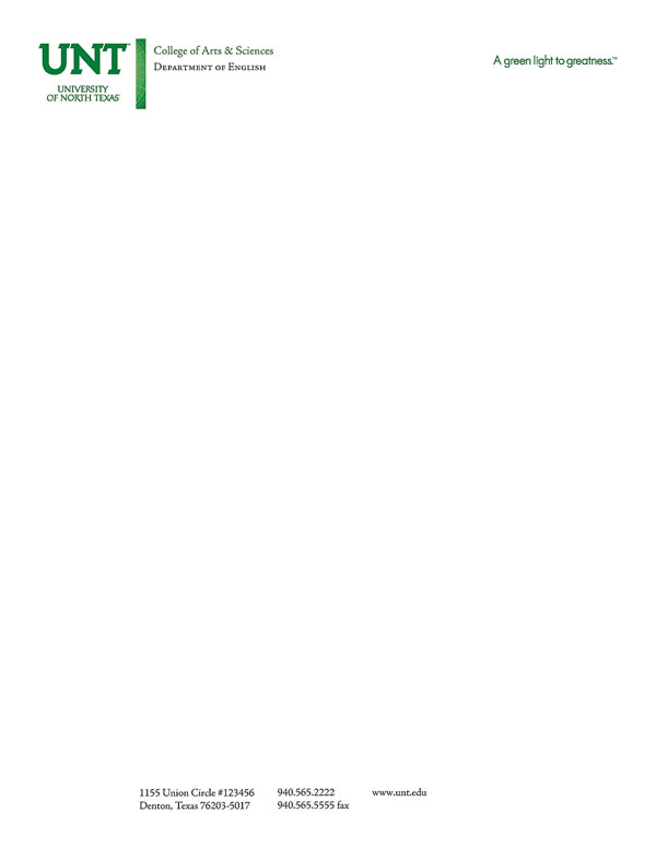Letterhead sample